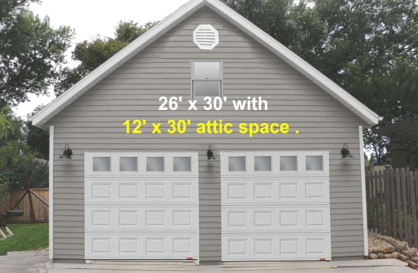 Garage Pkg Attic 26 X 30